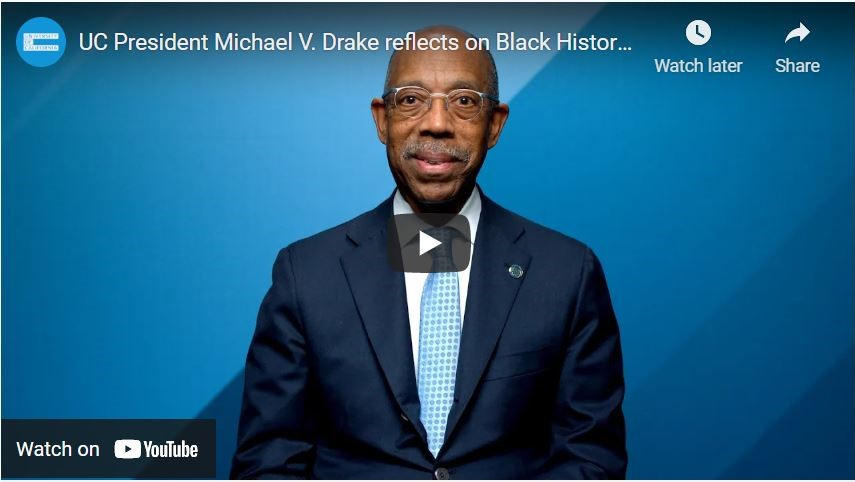 Screenshot of Pres Drake's Black History Month video