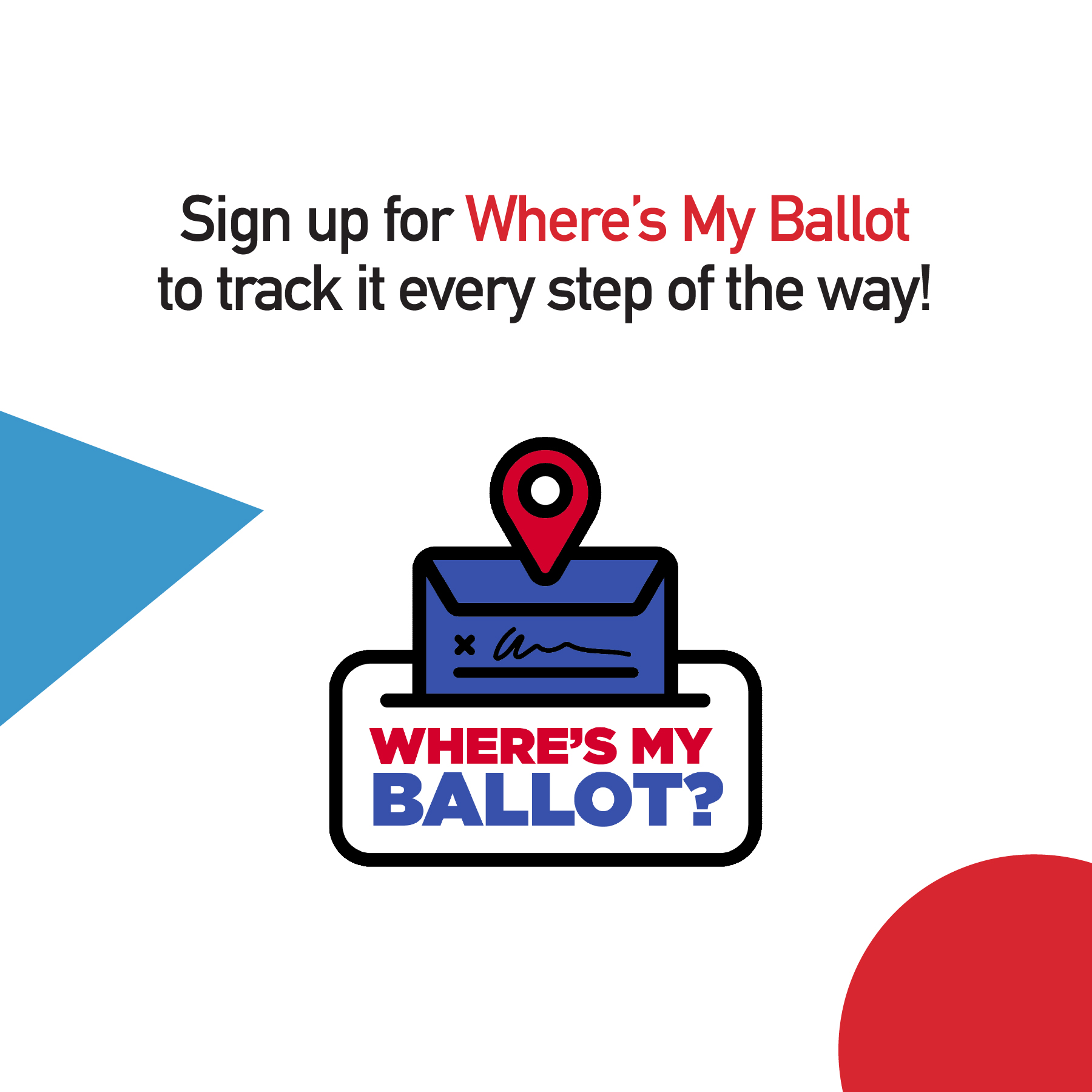 Where's My Ballot graphic
